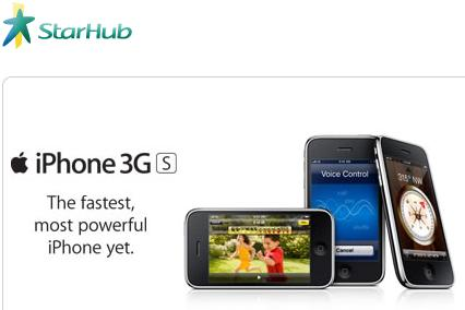 Starhub iPhone 3GS and 3G available for free on 3G SmartSurf ...