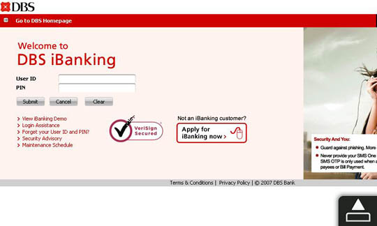 DBS Internet Banking on Windows Phone, Android and iPhone