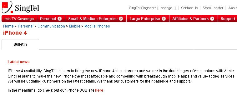 Singtel is Ready for iPhone 4? | TechieLobang - News, Tips & Tricks