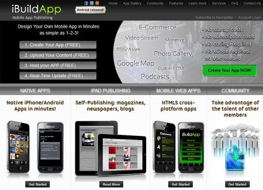 ibuildapp creates iphone android apps no programming skills needed