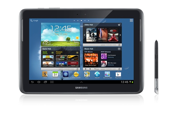 Samsung GALAXY Note 10.1 LTE - Deep Grey (Front)